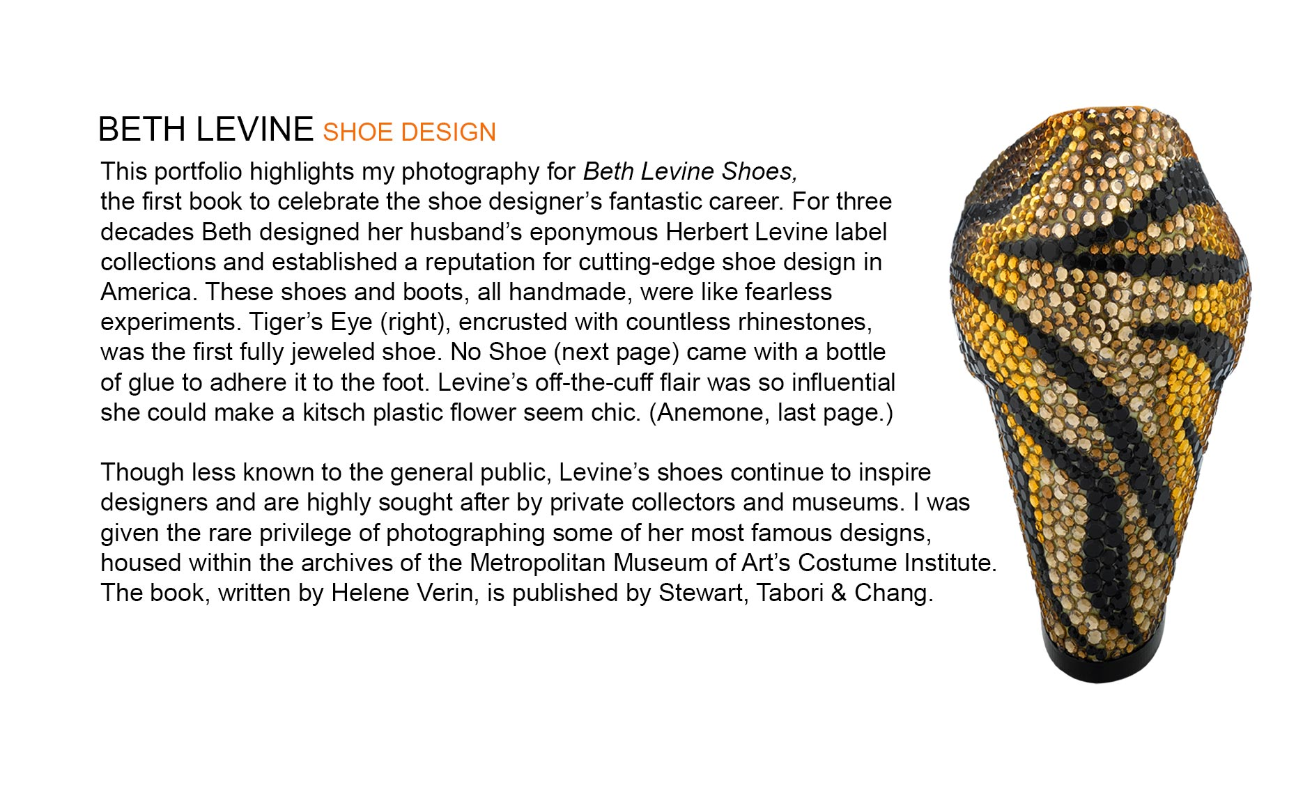 BETH LEVINE Shoe Design