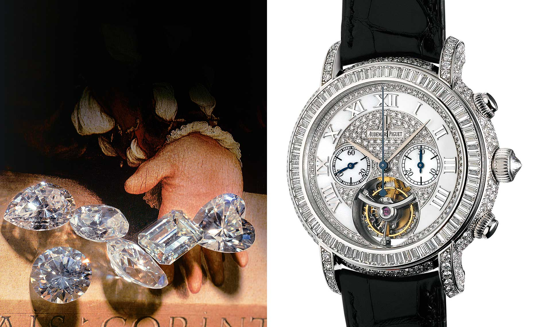 Counterfeit diamonds and Audemars Piguet wristwatch