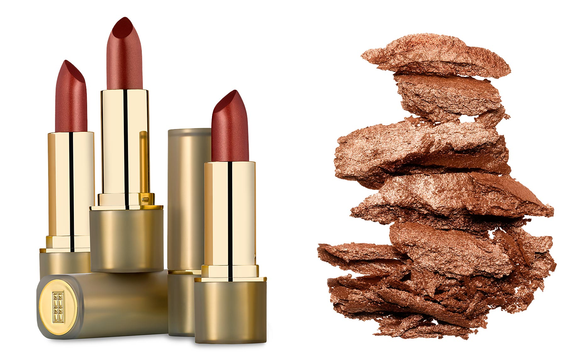 Elizabeth Arden lipsticks and bronzing powder