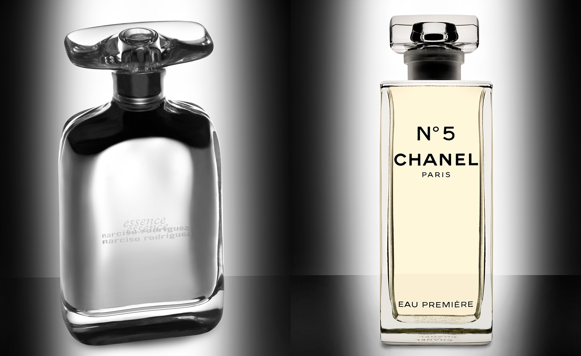 Narciso Rodriguez Essence and Chanel No. 5 Eau Premiere fragrances
