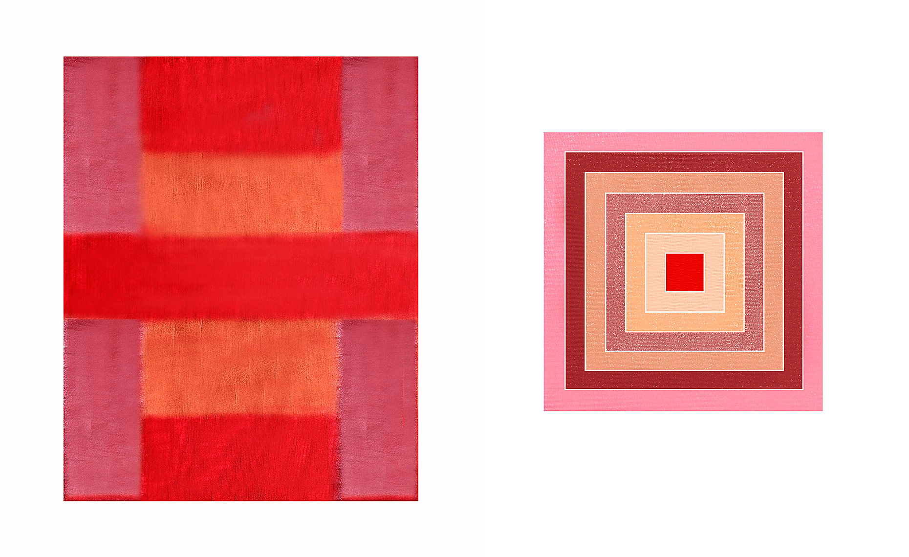 Estee Lauder lipstick after Ad Reinhardt, NARS blush after Frank Stella