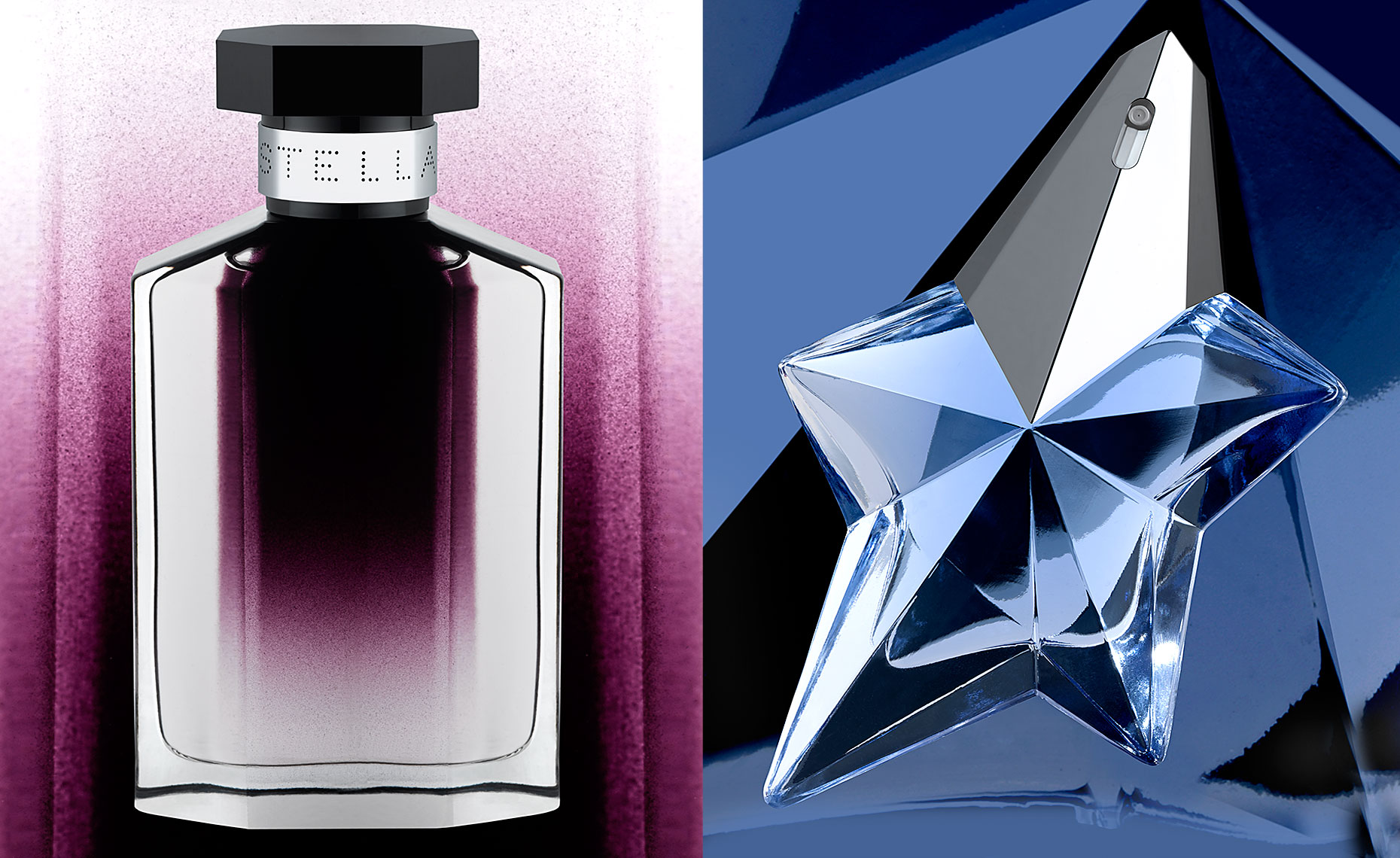 Stella McCartney and Thierry Mugler Angel fragrances